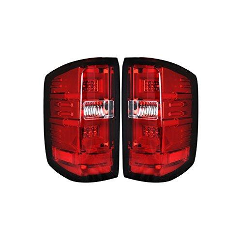 Chevy Silverado 14-15 1500 (Fits 3rd GEN All Body Styles Chevy Silverado & GMC Sierra 15-16 Dually ONLY) LED TAIL LIGHTS - Red Lens