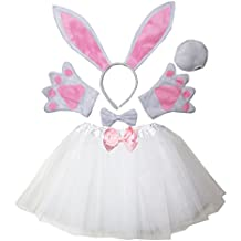 Kirei Sui Kids Animal Costume Ears Headband Bowtie Tail Tutu Paws Set