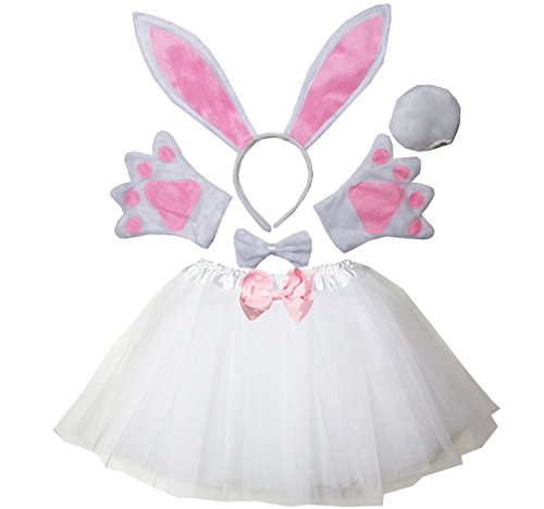 Kirei Sui Kids Easter Bunny Costume Tutu Set White]()