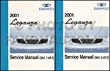 2001 Daewoo Leganza Repair Shop Manual Original 2 Volume Set