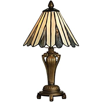 Tiffany style table lamp stained glass mini small accent - Lamp height for bedroom night table ...
