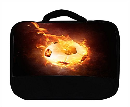 Soccer Ball Flame on Fire Canvas Lunch Bag by Moonlight (Usa Brazil World Cup)