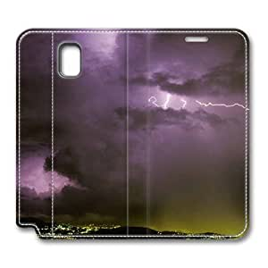 Brain114 Fashion Style Case Design Flip Folio PU Leather Cover Standup Cover Case with Astraphobia Pattern Skin for Samsung Galaxy Note 3