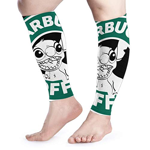- Calf Compression Sleeves Lilo and Stitch Starbucks Coffee Logo Leg Support Socks for Women Men 1 Pair