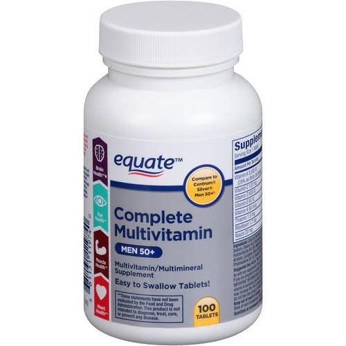 Equate – Complete Multivitamin, Men 50+, 100 Tablets (Compare to Centrum)