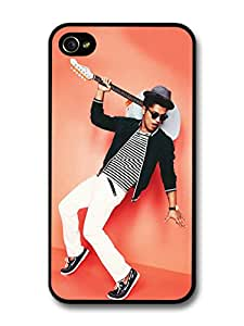 Bruno Mars Blue Guitar Pink Wall Portrait case for iPhone 4 4S