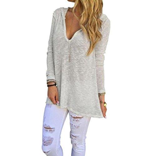 VESNIBA Womens Long Sleeve Shirt Casual Blouse Loose