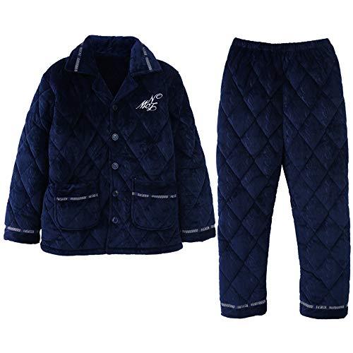 Engrosamiento Para Color Carta Pijamas Hogar Invierno Simple De Al Mmllse Cachemir Photo Tres Acolchados Hombre Capas Servicio Traje YWTqwpz