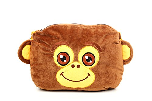 Amaz247 Padpouch Kids Stand Cover Case Pillow with Embedded Sound Magnifier for Ipad Air (5th), Ipad 4, Ipad 3, Ipad 2, and Ipad 1 (Monkey) (Case Tablet Pillow)
