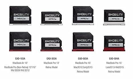 8MOBILITY iSlice Adaptador de almacenamiento Micro SD para MacBook ...