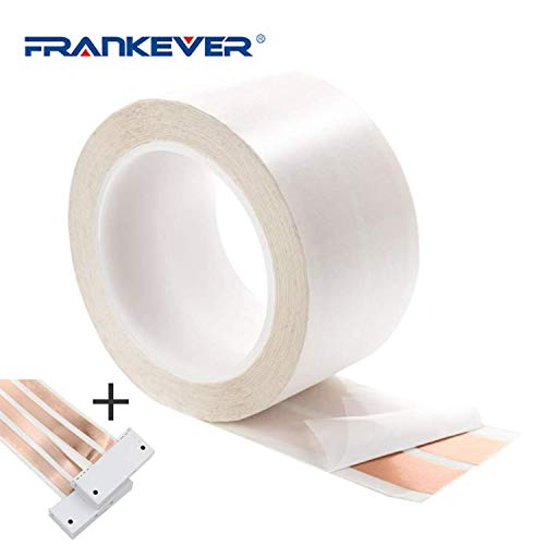 FRANKEVER Speaker Wire, Electrical Wire, Copper Wire, 2.36in x 50ft, Adhesive in Wall Speakers Cable, 2 Conductor, DIY Audio Cable Electrical Wire with 2 Connectors