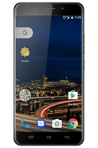 FIGO Orion 5.0 - Dual Micro SIM 4G LTE Unlocked Quad Core 1.3 GHz 1 GB RAM 16GB Memory Android 6.0 8MP/2MP Camera 5.0'' IPS Display Metallic Body Fingerprint Sensor (Black) - 1 Year Warranty by Figo