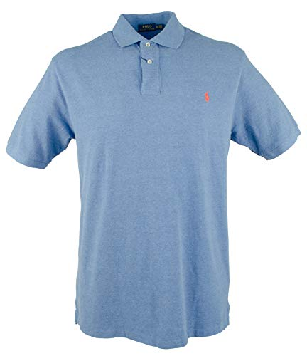 Polo Ralph Lauren Mens Big & Tall Signature Waffle Knit Polo Shirt (4X Tall, Deco Blue -