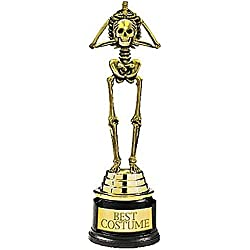 Amscan Best Costume Skeleton Plastic Trophy