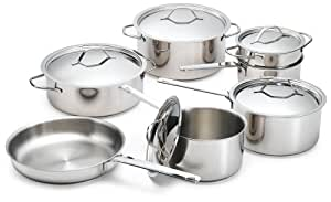 Paderno 1000-12-01 Pots for Eternity 12 Piece Confederation Cookware Set
