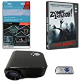 Virtual Reality Halloween Projector Value Kit with Zombie Invasion AtmosFEARFx DVD and Screen