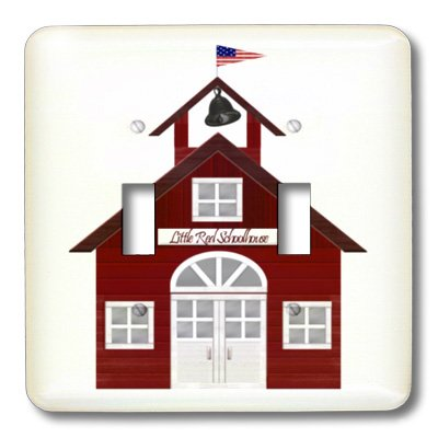 3dRose LLC lsp_25990_2 Little Red Schoolhouse, Double Toggle Switch