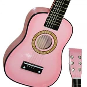 23 pink toys childrens kids acoustic guitar pick strings musical instruments. Black Bedroom Furniture Sets. Home Design Ideas