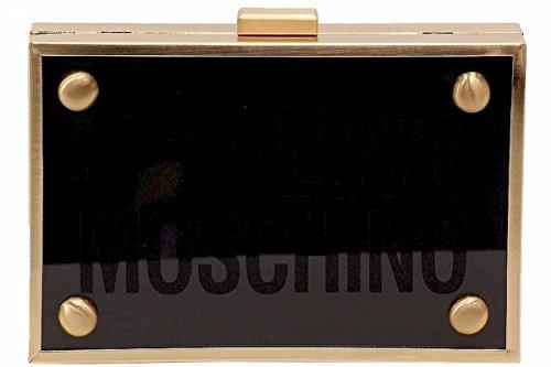 LOVE Moschino Women's Box Clutch Black Clutch by Love Moschino