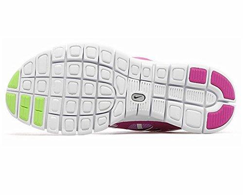 Nike Damen, Unisex Free Run 2 (GS) Laufschuhe fuchsia glow-key lime-fuchsia flash-white