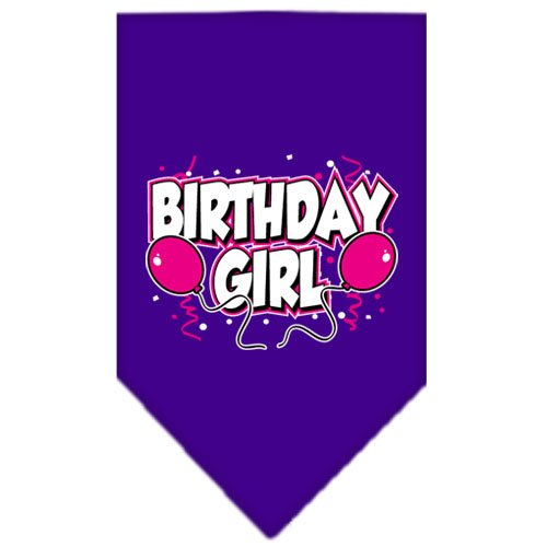 (Mirage Pet Products Birthday Girl Screen Print Bandana for Pets, Large, Purple)