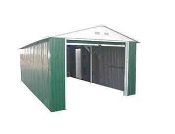 Duramax Garaje_Lyon - Garaje metálico Color Verde Lyon: Amazon.es: Jardín