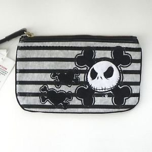 - Disney Parks Jack Skellington Velour & Black Sequins Wristlet Clutch