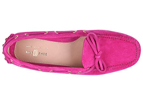 Car Shoe mocassins femme en daim rose