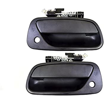 TEXTURE BLACK Exterior Outside Door Handle PAIR REAR for 96-04 PATHFINDER