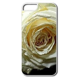 IPhone 5/5S Cases, Rose Black Velvet Case For IPhone 5 5S - White Hard Plastic