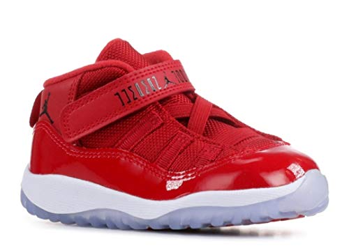 Nike 378040-623 Kids Toddler 11 Retro BT Jordan Gym Red Black White