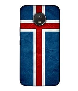 ColorKing Football Iceland 01 Blue shell case cover for Motorola Moto E4 Plus
