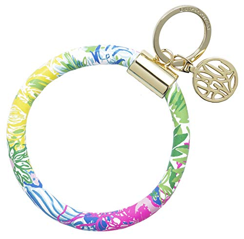 Lilly Pulitzer Bracelet Key Ring Chain, Cheek to Cheek]()
