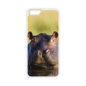 "WJHSSB Cover Shell Phone Case Hippo For iPhone 6 Plus (5.5"")"