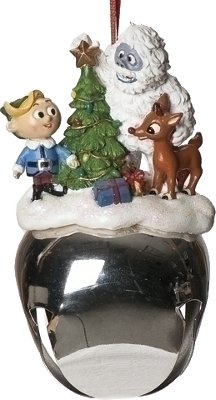 Rudolph the Red Nosed Reindeer TV Special Extra Large Jingle Bell Christmas Ornament
