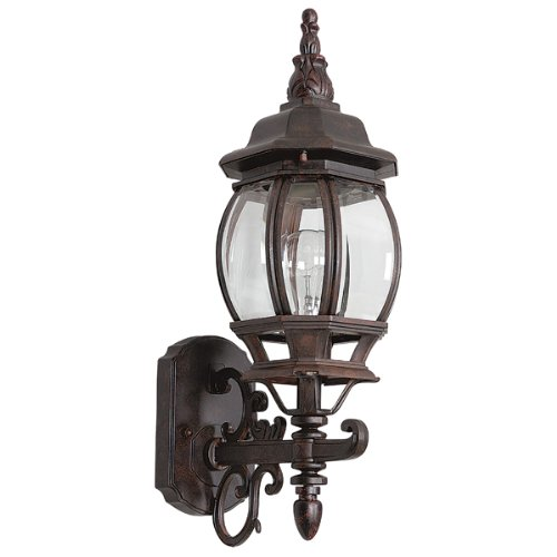 French 1 Light Outdoor Wall Lighting Finish: Rubbed Bronze ()