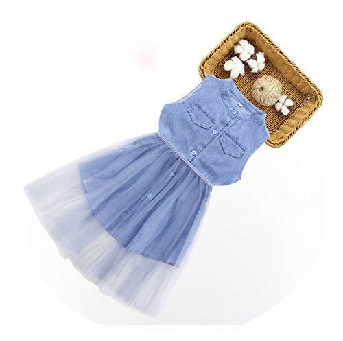 Kids Dresses for Girls Toddler Girl Dresses Casual Girls Off Shoulder Dress Newest Kids Denim Dress Girl 6 8 10 12 13 14,As Picture4,6