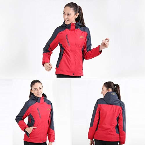impermeabile Jiobapiongxin pile interno staccabile interno maglione come Giacca in unisex cappuccio con con xwar0qZTw