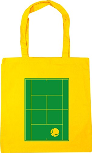 HippoWarehouse Tennis Court Tote Shopping Gym Beach Bag 42cm x38cm, 10 litres Yellow