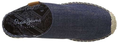 Pepe Jeans Women's Monica Flop Denim Espadrilles Blue (Dk Denim) best deals MX9Tnw5
