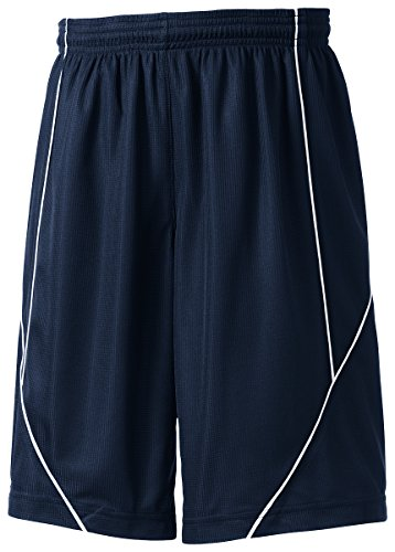 Sport-Tek Boys' PosiCharge Mesh Reversible Spliced Short - True Navy YT565 S