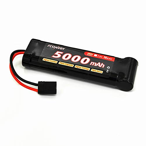 FCONEGY NiMH 5000mAh 8.4V Flat Pack Battery Pack withTraxxas Plug for RC Cars, RC Truck,RC Gun,Receiver, RC Hobby ... 5000 Mah Nimh Flat