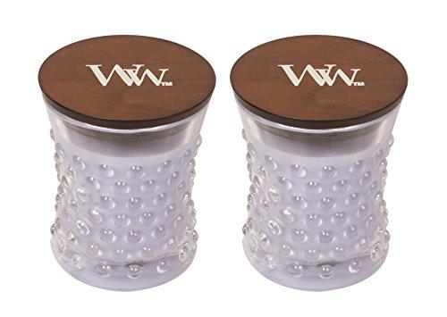 Lavender Glass Vintage (WoodWick Vintage Hobnail Candle Set - Lavender Spa)