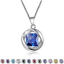 "Aurora Tears Birthstone Created-Topaz Pendant Necklace for Women 17.7"" Chain"