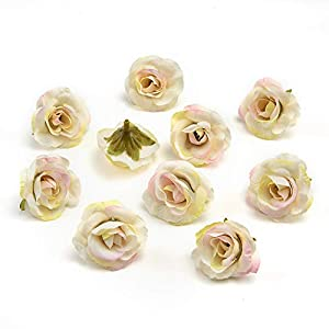 Artificial Flowers Small Tea Bud Simulation Small Tea Rose Silk Flower Decoration Flower Head DIY Accessories 30pcs 68