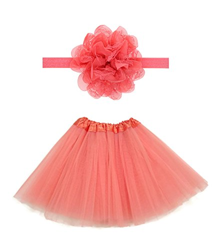 Rush Dance Boutique Costume Princess Ballerina Tutu & Top & Headband Gift Set (Kids (2-8 Years), (Orange Tutu With Headband)