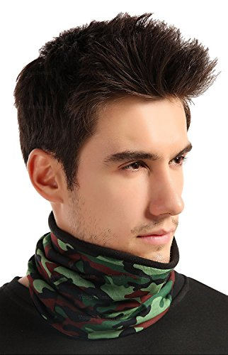 Fleece Neck Warmer [Tactical] - Reversible Neck Gaiter Tube, Ear Warmer Headband, Mask & Beanie. Ultimate Thermal Retention, Versatility & Style. Performance Comfort Fleece & Microfiber Construction Dog Ear Cap