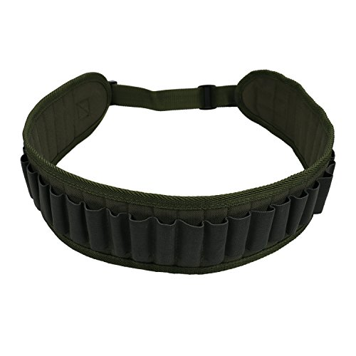 Waterproof 30 Rounds Shotgun Shell Bandolier Belt,Tactical Military Shell Carrier Waist Sling Adjustable Gun Magazine Shooting Bullet Storage Pouch