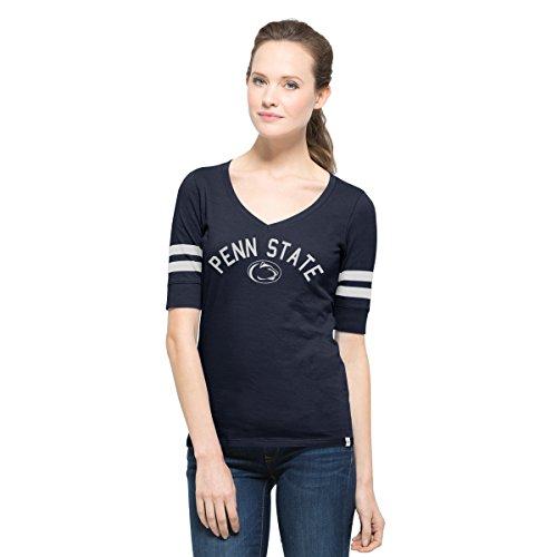 NCAA Penn State Nittany Lions Women's '47 Flanker Stripe Tee, X-Large, Fall Navy