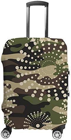 スーツケースカバー 迷彩柄 伸縮素材 キャリーバッグ お荷物カバ 保護 傷や汚れから守る ジッパー 水洗える 旅行 出張 S/M/L/XLサイズ